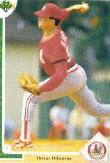 1991 Upper Deck 463 Omar Olivares RC