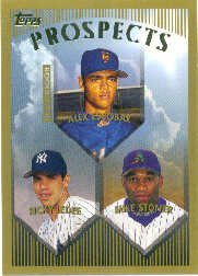 1999 Topps 206 Alex Escobar RC/Ricky Ledee/Mike Stoner RC