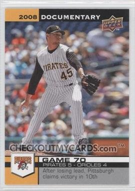 2008 Upper Deck Documentary 2010 Jamie Moyer