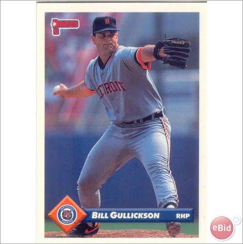 1993 Donruss 523 Bill Gullickson