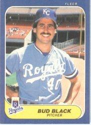 1986 Fleer # 4 Bud Black