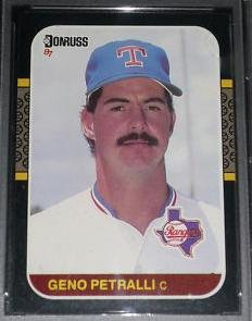 1987 Donruss 619 Geno Petralli