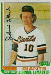 1982 Topps #304 Johnnie LeMaster