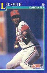 1991 Score 81 Lee Smith