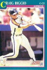 1991 Score 161 Craig Biggio