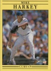 1991 Fleer 423 Mike Harkey