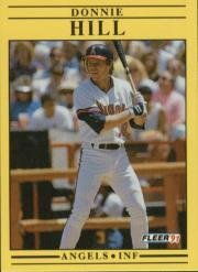 1991 Fleer 316 Donnie Hill