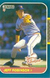 1987 Donruss Rookies #13 Jeff M. Robinson