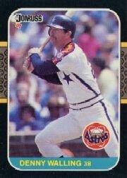 1987 Donruss #554 Denny Walling