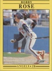 1991 Fleer #324 Bobby Rose