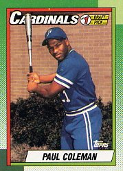 1990 Topps #654 Paul Coleman RC