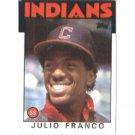 1986 Topps 391 Julio Franco