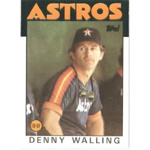 1986 Topps 504 Denny Walling