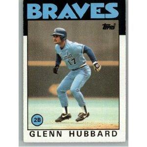 1986 Topps 539 Glenn Hubbard