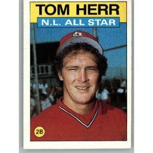 1986 Topps 702 Tom Herr AS