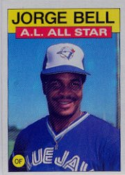 1986 Topps 718 George Bell AS