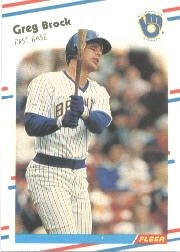 1988 Fleer 158 Greg Brock