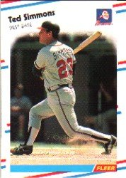 1988 Fleer 549 Ted Simmons
