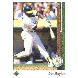 1989 Upper Deck 601 Don Baylor