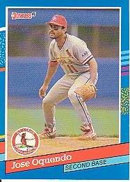 1991 Donruss 281 Jose Oquendo