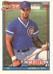 1991 Topps 288 Derrick May