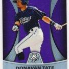 2010 Bowman Platinum Prospects Purple Refractors PP24 Donavan Tate