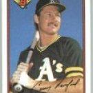1989 Bowman #198 Carney Lansford