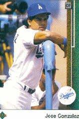 1989 Upper Deck 626 Jose Gonzalez