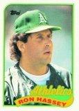 1989 Topps 272 Ron Hassey