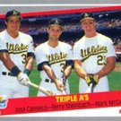 1989 Fleer #634 Jose Canseco