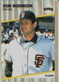 1989 Fleer #342 Don Robinson