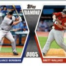 2011 Topps Diamond Duos Baseball Card #BW Lance Berkman & Brett Wallace
