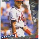 1998 Pinnacle Inside #25 Andruw Jones