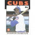 1986 Topps 72 Shawon Dunston