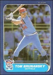 1986 Fleer #387 Tom Brunansky