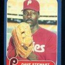 1986 Fleer #453 Dave Stewart