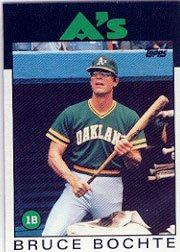1986 Topps 378 Bruce Bochte