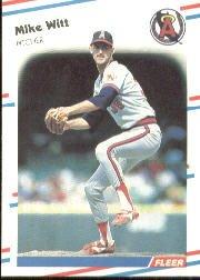 1988 Fleer 507 Mike Witt