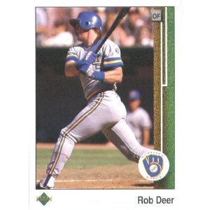 1989 Upper Deck 442 Rob Deer