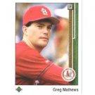 1989 Upper Deck 531 Greg Mathews