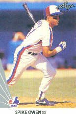 1990 Leaf 186 Spike Owen