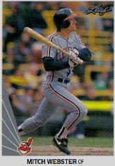 1990 Leaf 312 Mitch Webster