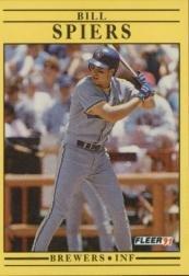 1991 Fleer 597 Bill Spiers