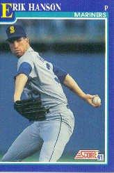 1991 Score 486 Erik Hanson UER