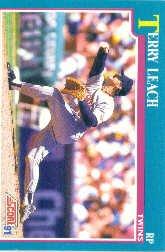 1991 Score 556 Terry Leach