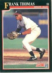 1991 Score 840 Frank Thomas UER/1989 Sarasota stats,/15