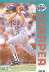 1992 Fleer 204 Brian Harper