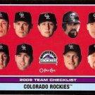 2009 O-Pee-Chee Black #523 Colorado Rockies CL