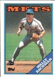 1988 Topps 333 Wally Backman