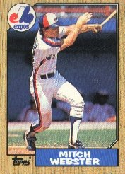 1987 Topps 442 Mitch Webster